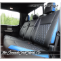 2015 - 2020 Ford F150 Crew Cab Tekstitch Leather Interior Rear Seat View