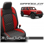 2018 - 2020 Jeep Wrangler JL Katzkin Tekstitch Red Leather Seats