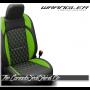 2018 - 2020 Jeep Wrangler JL Katzkin Tekstitch Lime Leather Seats