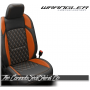 2018 - 2020 Jeep Wrangler JL Katzkin Tekstitch Tangerine Leather Seats