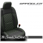 2018 - 2021 Jeep Wrangler JL Diamond Stitched Leather Seats in Lime