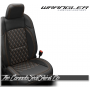 2018 - 2021 Jeep Wrangler JL Diamond Stitched Leather Seats in Orange