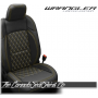 2018 - 2021 Jeep Wrangler JL Diamond Stitched Leather Seats in Yellow