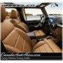 2007 - 2012 Jeep Wrangler in Palomino Tuscany Leather with Tan Trim