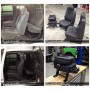 2006 GMC Sierra Katzkin Dark Graphite Leather Before and After
