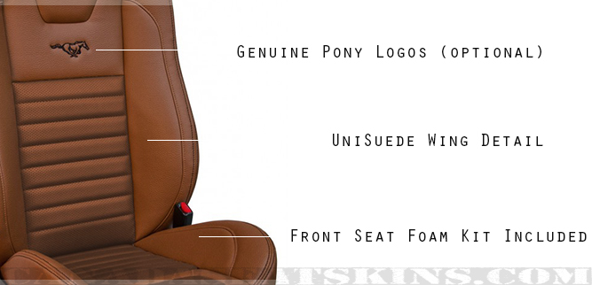 2005 - 2010 Ford Mustang Sport R High Back Seat Detail